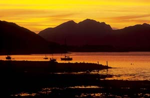 Photo of sunset on Loch Linnhe