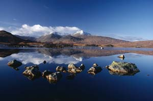 Photo of Rannoch Moor with small loch in the foreground